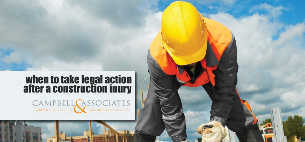 When To Take Legal Action After A Construction Injury NC Attorney