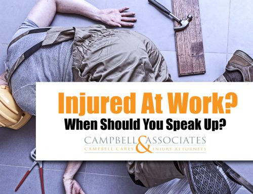 Injured at Work?  Here's Why You Need to Speak Up Now.
